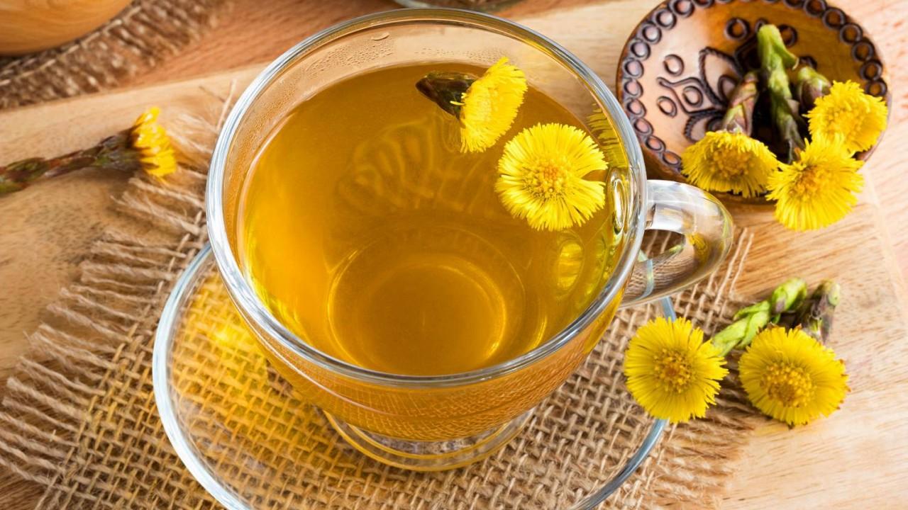 Podbeľový čaj na kašeľ